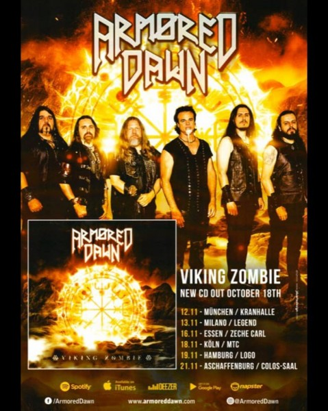 Armored Dawn - europe tour 2019